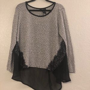 Sheer Herringbone Blouse